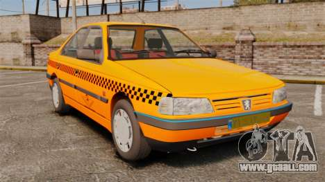 Peugeot 405 GLX Taxi for GTA 4