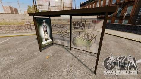 Real advertising at bus stops for GTA 4 third screenshot