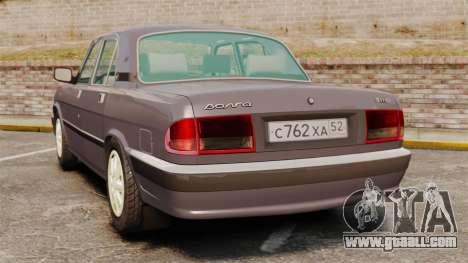 Gaz-3110 Volga for GTA 4 back left view