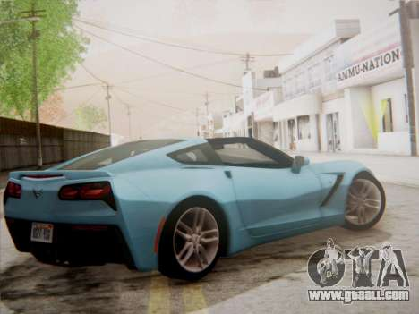 Chevrolet Corvette C7 Stingray 2014 for GTA San Andreas back left view