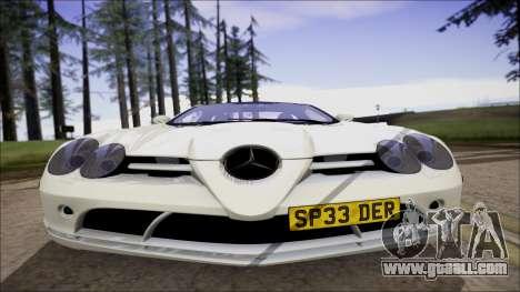 Mercedes-Benz SLR Mclaren for GTA San Andreas back left view
