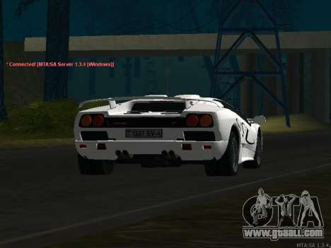 Lamborghini Diablo SV v2 for GTA San Andreas side view