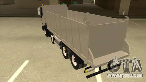 Hi-Land Dump Truck Iveco for GTA San Andreas back view