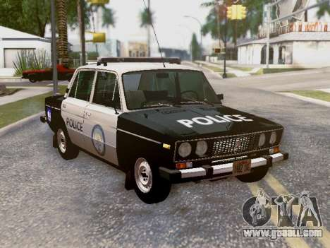 VAZ 2106 Los Santos Police for GTA San Andreas interior