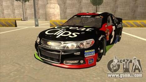 Chevrolet SS NASCAR No. 5 Great Clips for GTA San Andreas