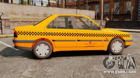 Peugeot 405 GLX Taxi for GTA 4 left view