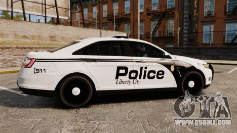 Ford Taurus Police Interceptor 2011 [ELS] for GTA 4 left view