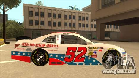 Toyota Camry NASCAR No. 52 TruckerFan for GTA San Andreas back left view