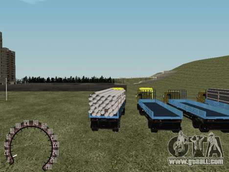 Timber Trailer for GTA San Andreas back left view