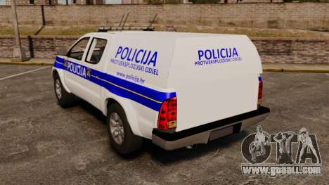 Toyota Hilux Croatian Police v2.0 [ELS] for GTA 4 back left view