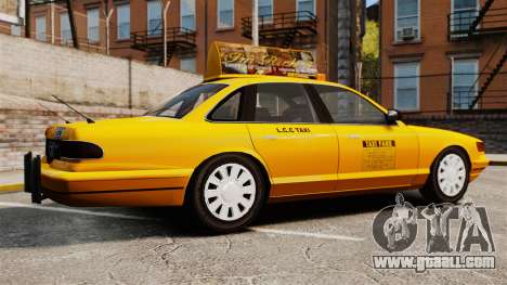 Taxi with new disk v2 for GTA 4 left view
