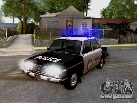 VAZ 2106 Los Santos Police for GTA San Andreas side view