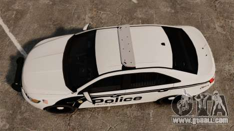Ford Taurus Police Interceptor 2011 [ELS] for GTA 4 right view