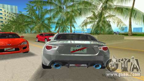 Subaru BRZ Type 3 for GTA Vice City right view