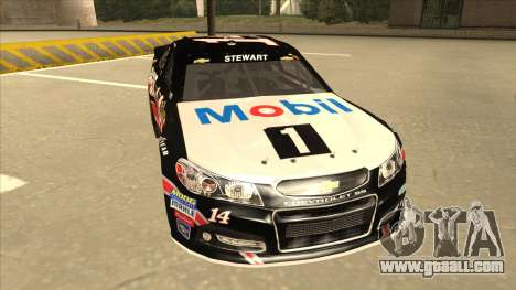 Chevrolet SS NASCAR No. 14 Mobil 1 Tracker Boats for GTA San Andreas left view