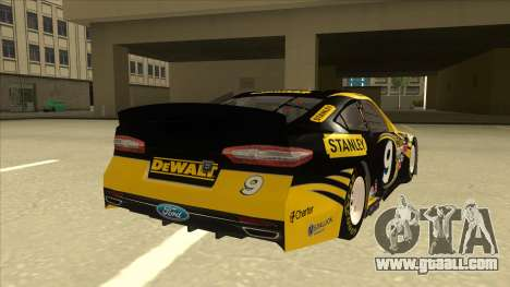 Ford Fusion NASCAR No. 9 Stanley DeWalt for GTA San Andreas right view