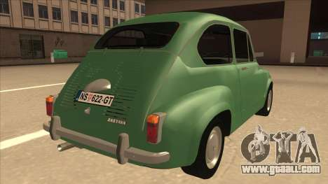 Zastava 750 Classic for GTA San Andreas right view