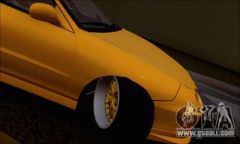 Honda Integra Type-R Hellaflush for GTA San Andreas inner view