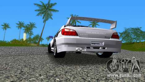 Subaru Impreza WRX v1.1 for GTA Vice City bottom view