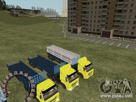 Timber Trailer for GTA San Andreas left view