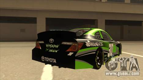 Toyota Camry NASCAR No. 30 Widow Wax for GTA San Andreas right view
