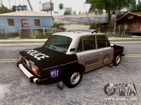VAZ 2106 Los Santos Police for GTA San Andreas wheels