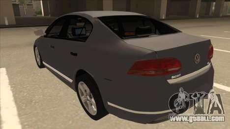 Volkswagen Passat 2.0 Turbo for GTA San Andreas back view