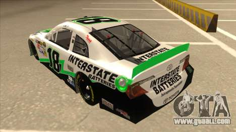 Toyota Camry NASCAR No. 18 Interstate Batteries for GTA San Andreas back view