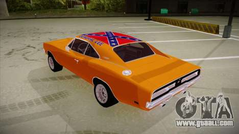 Dodge Charger 1969 (general lee) for GTA San Andreas back view