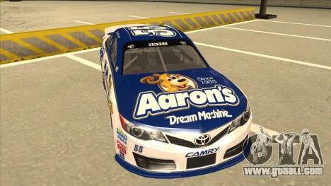 Toyota Camry NASCAR No. 55 Aarons DM white-blue for GTA San Andreas left view