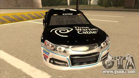Chevrolet SS NASCAR No. 5 Time Warner Cable for GTA San Andreas left view