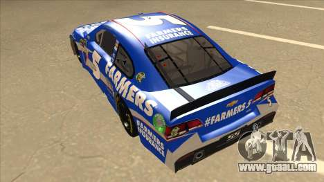 Chevrolet SS NASCAR No. 5 Farmers Insurance for GTA San Andreas back view