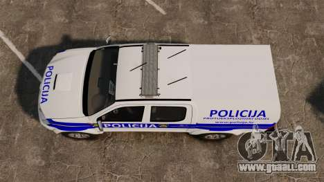 Toyota Hilux Croatian Police v2.0 [ELS] for GTA 4 right view
