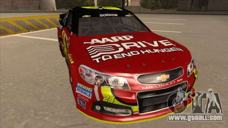 Chevrolet SS NASCAR No. 24 AARP for GTA San Andreas left view