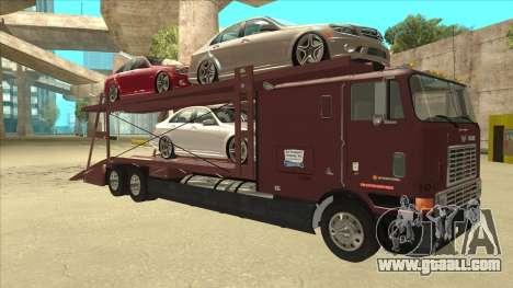 International 9700 Car Hauler for GTA San Andreas back left view