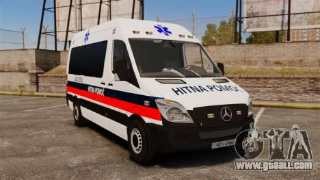 Mercedes-Benz Sprinter Zagreb Ambulance [ELS] for GTA 4