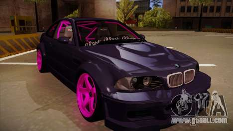 BMW M3 Drift for GTA San Andreas left view