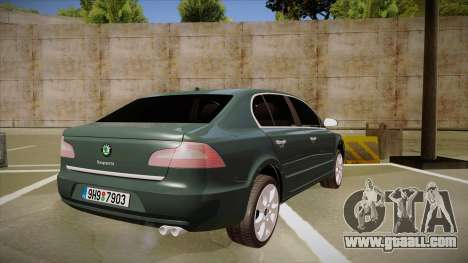 Skoda SuperB 2009 for GTA San Andreas right view
