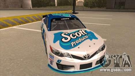 Toyota Camry NASCAR No. 47 Scott for GTA San Andreas left view