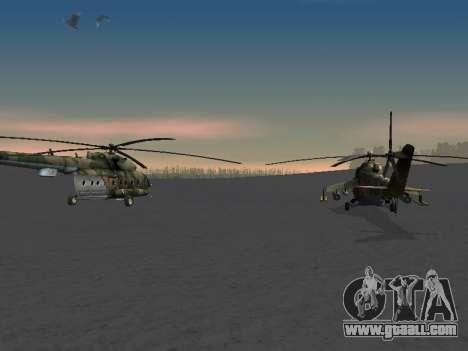 MI-8 for GTA San Andreas inner view
