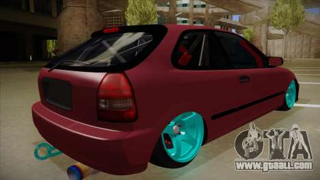 Honda Civic EK9 Drift Edition for GTA San Andreas right view