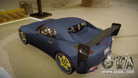 Pontiac Solstice Rhys Millen for GTA San Andreas back view