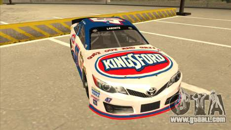 Toyota Camry NASCAR No. 47 Kingsford for GTA San Andreas left view