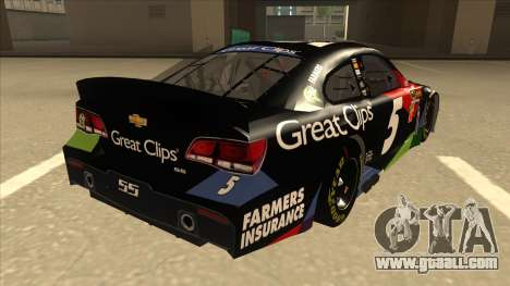 Chevrolet SS NASCAR No. 5 Great Clips for GTA San Andreas right view