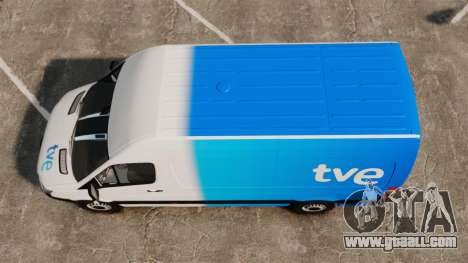 Mercedes-Benz Sprinter Spanish Television Van for GTA 4 right view
