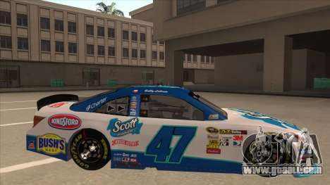 Toyota Camry NASCAR No. 47 Scott for GTA San Andreas back left view
