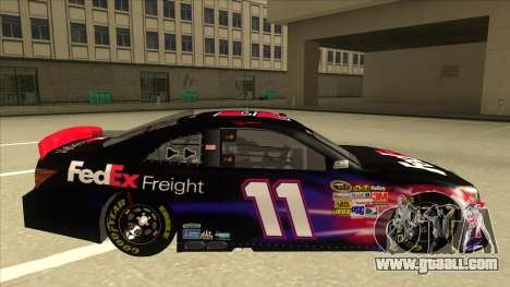 Toyota Camry NASCAR No. 11 FedEx Freight for GTA San Andreas back left view