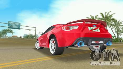 Subaru BRZ Type 3 for GTA Vice City back view