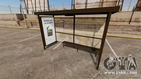 Real advertising at bus stops for GTA 4 second screenshot