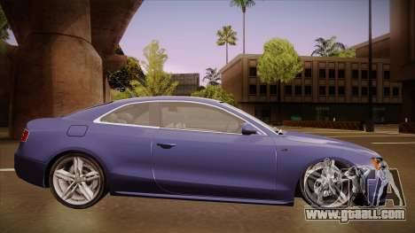 Audi S5 for GTA San Andreas back left view